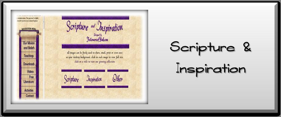 Scripture & Inspiration