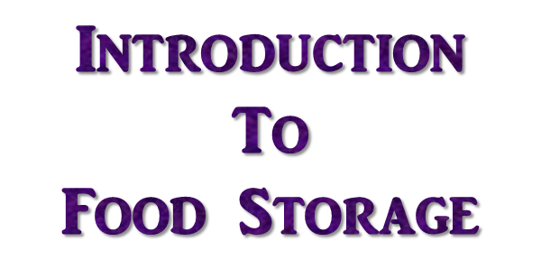 introductiotofoodstorage