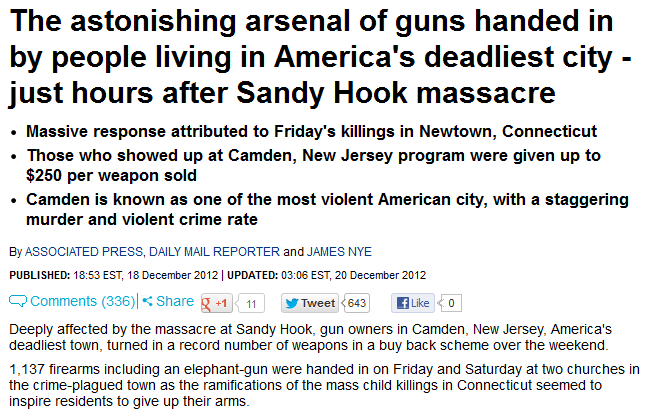 http://www.dailymail.co.uk/news/article-2250233/Sandy-Hook-shooting-Buyback-program-Camden-New-Jersey-collects-record-number-guns.html#axzz2JsKp0NE9